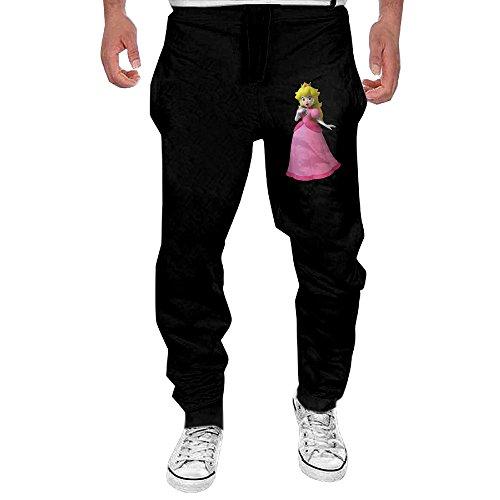 KABVB Mens Princess Peach Men's Casual Sweatpants Pants X-Large