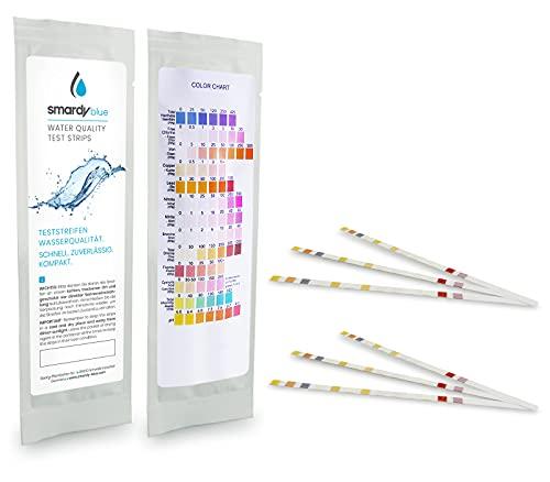 SMARDY Kit - 6X 13in1 Strisce reattive Acqua Test per Acquario, Acqua Potabile, Piscine, Spa, Risultati Altamente in Secondi