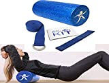 Dr. E'S Home Foam Roller Bundle for Back Pain Relief Saves You a Trip to Your Doctor! Back Pain Kit Includes Extra Firm Roller, Resistance Band, Detailed Exercise Manual, Handy Carry Case