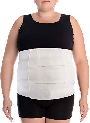 Wide Abdominal Binder Belly Wrap – Plus Size Postpartum Tummy Tuck Belt Provides Slimming Bariatric Stomach Compression or to Help Hernia or Post Surgery Healing & Support (XXL)