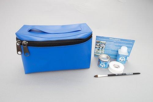 Set: PVC tas + lijm kit, (blauw) afneembaar voor rubberboten van Valmex PV-K4