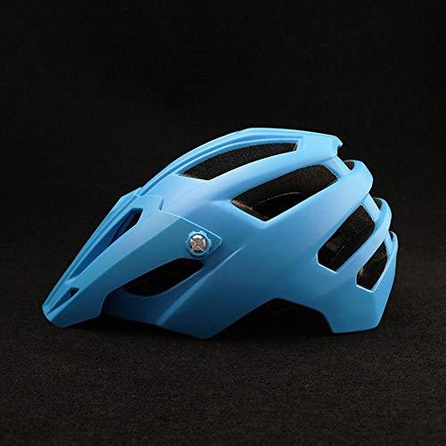 HKRSTSXJ Cascos Ciclismo Masculino del Casco de Ciclista Femenino de la Bicicleta Casco cómodo y Transpirable for Adultos Casco de la Bici de montaña (Color : Azul)