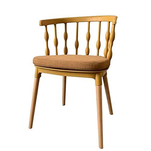 ZXJUAN Mode eetkamerstoel bureaustoel van metaal rugleuning zitkussen geschikt voor thuis restaurant kantoor slaapkamer