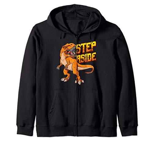 Step Aside Dinosaur Gift Fierce Huge T-Rex Ferocious Nervous Sudadera con Capucha