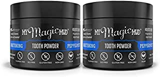 My Magic Mud - Whitening Tooth Powder, Polishing, Brightening, Charcoal, Peppermint, 2-Pack