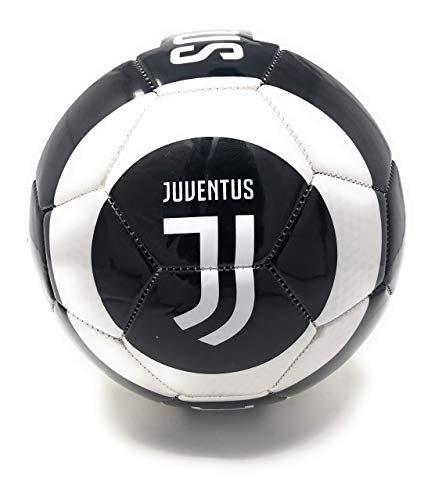 Juventus Soccer Ball Size 5 Official Licensed Futbol Black and White 2019-2020 Great for Players, Fans, Trainers, Coaches Gift
