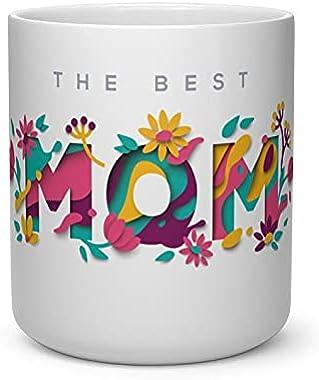 "V Kraft ""The Best mom"" Unique Heart Shape Inner Cut Coffee Mug Tea Cup Milk Mug for Birthday Anniversay Mother's"