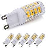 G9 LED Dimmable Light, Warm White 4 Watts Replacement for 40 Watts Halogen G9 Bulb, Warm White 3000K, 360 Degree LED G9 Corn Crystal Light for Livingroom Bedroom Lighting(Pack of 5)¡