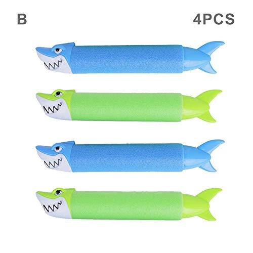 4-pack Water Blaster Squirter Zwembadspeelgoed, Cartoon Dier EVA Soaker Waterpistool Shooter, Waterspuit Speelgoed Buitenspellen Speelgoed Voor Kinderen Jongens Meisjes Volwassenen