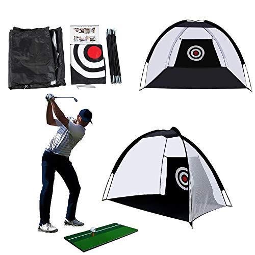 RUIZHUO Chipping Netz Golf Netz Schlagnetz Golfen Zubehör Outdoor Indoor Faltbarer Golf Übungskäfig Tragbares Fahren Schlagnetz Trainingshilfe,2M golfübungsgeräte