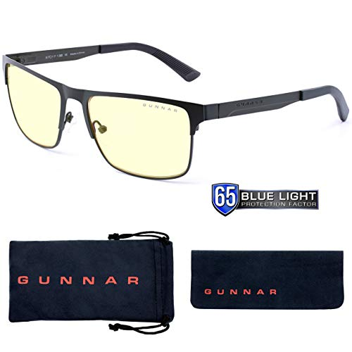 Gunnar Gaming- und Computerbrille | Pendleton, Moss Rahmen, Amber Linse | Blue Light Blocking Glasses | Patentierte Linse, 65% Blaulicht- & 100% UV-Lichtschutz zur Verringerung der Augenbelastung