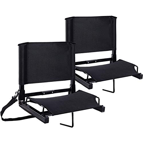 Stadium Seats Ohuhu Bleacher Chairs Seat with Backs and...