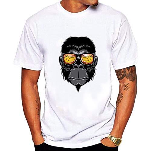 Camisetas para Hombre Originales Manga Corta Verano,JiaMeng Camiseta con Cuello Redondo Originales Estampada Casual Divertidas T-Shirt Sencillo Color SóLido Navidad Pulóver
