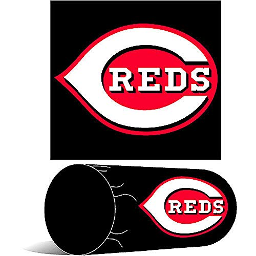 Officially Licensed MLB Cincinnati Reds Decorative 'Bolster' Pillow, Soft & Comfortable, Conforms to Head & Neck, Throws & Bedding, 7' x 12', Multi Color