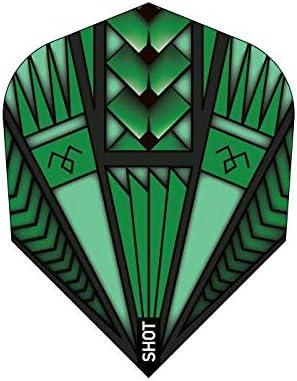 5 x Sets of Washington Mall Shot Armour In a popularity Green Shape Standard Dart Flight-Small