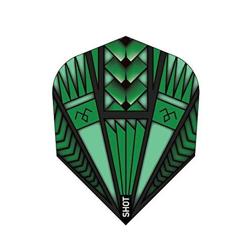 5 x Sets of Shot Armour Green Dart Flight-Small Standard Shape