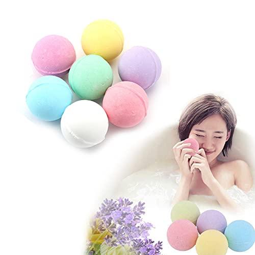 7pcs Bath Salt Ball Set, Bath Bombs for Women Relaxing Natural, Natural Ingredients Relaxing Scents, Moisturizes Dry Sensitive Skin