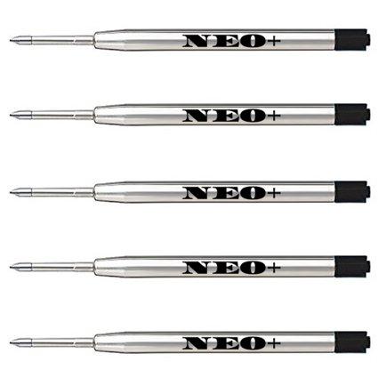 Ricariche penna a sfera di qualità, economiche ma di lunga durata, punto medio. Compatibile con la penna a sfera Parker. Ricarica G2 Ricarica di stile (5 x INCHIOSTRO NERO)