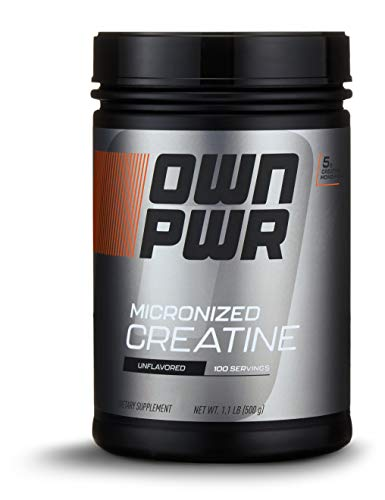 OWN PWR Micronized Creatine Monohydrate Powder 5G per Serving Unflavored 11 Pound 100 servings