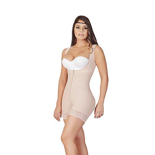 FAJAS SALOME Women's 0520-2 Short Girdle Post Surgery Waist Trimmer M Nude