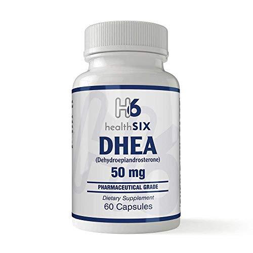 Health SiX DHEA (Dehydroepiandrosterone) | 50 Mg | 60 Capsules