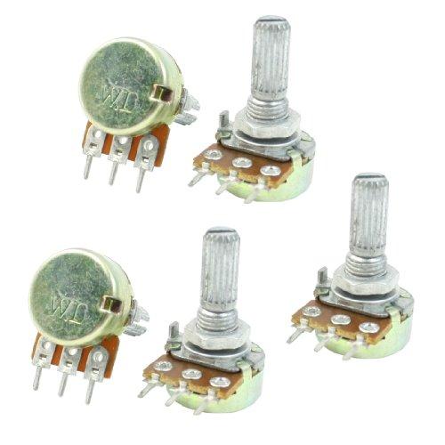 One Linear tipo 3 terminales macho de roscar giratorio para el potenciómetro de 20 K Ohm 5 piezas