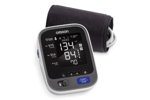 Omron 10 Series Upper Arm Blood Pressure Monitor; 2-User, 200-Reading Memory, Backlit Display, TruRead Technology, BP Indicator LEDs by Omron