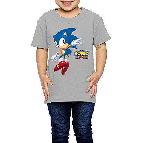 HGdggvd Gewaschene Baumwolle Baby Boy Mädchen Shirt Son-ic - Man-ia niedlichen Kleinkind Kinder Sommer T-Shirt lustig