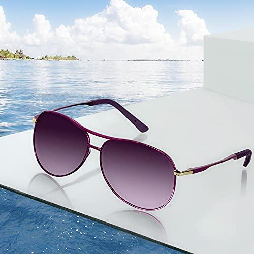 ShZyywrl Gafas De Sol Gafas De Sol para Mujer, Gafas De Sol De Piloto Polarizadas A La Moda, Gafas De Sol Coloridas De Lujo para Mujer, Gafas De Color Rosa Deg