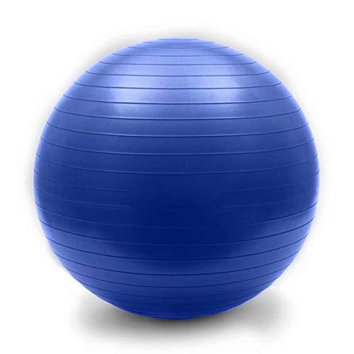 LDHVF Gymnastik/massage/Balance/Swiss/Pilates/Yoga bungs ball Verdickt Hypoallergisch R¨1ckentraining Und Coordination Robuster Fitnessball Dunkelblau 105cm