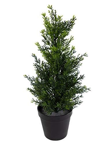 Seidenblumen Roß Zeder/Konifere Natura 45cm LA künstliche Pflanzen Baum Kunstpflanzen Kunstbaum Thuja Zypresse