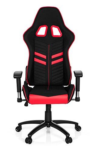 hjh OFFICE Gaming Chef-Sessel League PRO I mit Armlehnen, Sportsitz Ergonomisch, Höhenverstellbar Stuhl, 729260