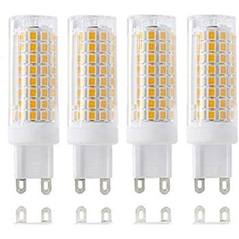Color : White G9 LED Light G9 9W 80 SMD 5733 1100LM LED Cover Corn Bulbs AC 110V Warm White White Light
