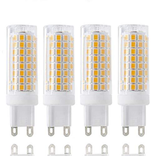 G9 LED All New g9 led Bulb Daylight lamp 8w Equivalent 100w Halogen Bulb 800lm 110v 120v Voltage Input G9 bi-pin Base Corn Bulb Warm White 3000k(4 Pack of) (Warm White)