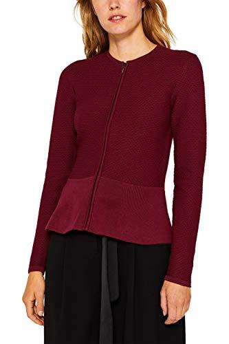 ESPRIT Collection Damen 999Eo1I802 Strickjacke, Rot (Garnet Red 620), Medium (Herstellergröße: M)
