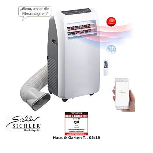 Sichler Haushaltsgeräte Mobile Klimaanlage WiFi: Klimaanlage, Heiz-Funktion, 12.000 BTU/h, 3.500 W, WLAN, App-Steuerung (Mobile Klimaanlage WLAN)