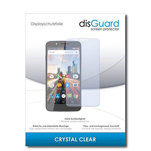 disGuard® Bildschirmschutzfolie [Crystal Clear] kompatibel mit Archos 55 Helium Ultra [2 Stück] Kristallklar, Transparent, Unsichtbar, Extrem Kratzfest, Anti-Fingerabdruck - Panzerglas Folie, Schutzfolie