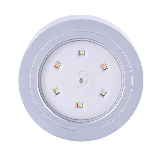 Hainice En Dos Tonos inalámbrico con Pilas de la Noche del LED luz del Armario luz de la Escalera de Las Luces del Coche, Luces seguras para Decorativo de Plata (sin la batería) Útil Duradera