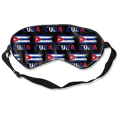 Luxe Mode Slaap Masker, Vrouwen Mannen Ultra Zachte Ademende Blindfold, Licht Blokkeren Oog Cover met Verstelbare Band voor Reizen/Nap/Yoga - Happy Hanukkah Lights Eén maat Grunge Cubaanse vlag