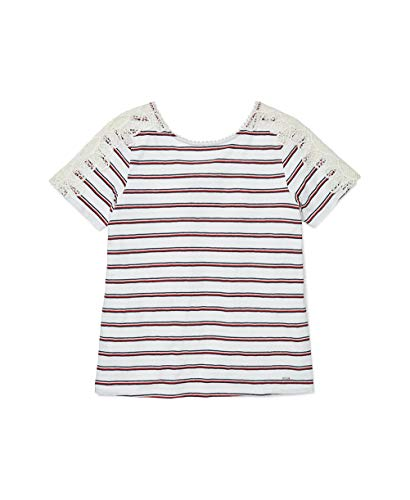 Tommy Hilfiger Damen ADP W Sally Printed Crochet TOP Hemd, Helles Weiß/Mehrfarbig,...