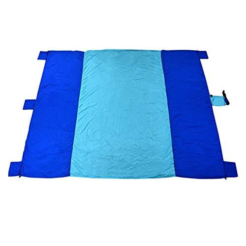 Colchoneta para Acampar Manta Impermeable para la Playa Colchoneta portátil para Picnic al Aire Libre Colchoneta para Picnic para Acampar al Aire Libre - Azul Claro + Azul Real