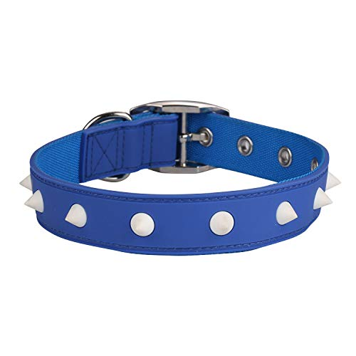 Paw Sport Dog Collars,Water Proof, Adjustable Size,Spikes with Glowing in The Dark