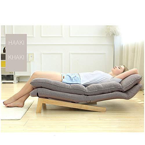 Sofa, vloer-lounge, stoel in 6 posities, instelbaar, uittrekbare bank, lucht, speelstoel voor thuis, kantoor, regenboog, modern hout Free size coffee