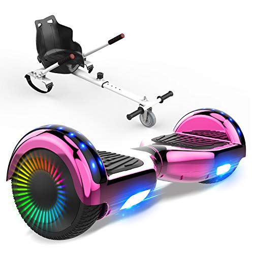 NEOMOTION Paket von 6,5 Zoll Hoverboards und Hoverkart Self Balance Scooter mit Bluetooth LED Flash Smart Boards leistungsstark hell solid Hoversitz für Segway Geschenke für Kinder & Jugendliche