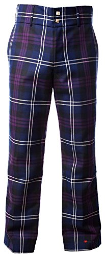 "I Luv Ltd Traditional Scottish Men's Trouser Trews in Heritage of Scotland Tartan 34"" Small"