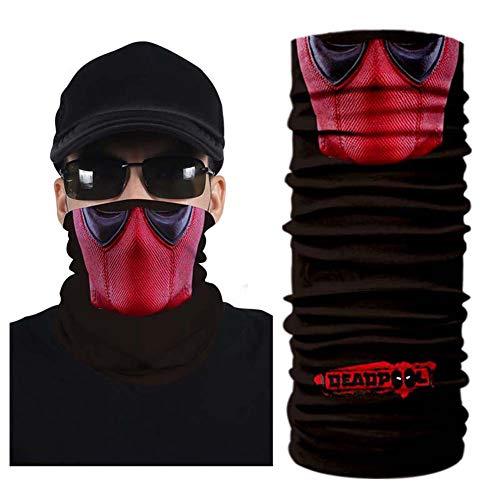 Skull Face Mask Neck Gaiter - Face Shield Protective Balaclava - Sun, Wind, Dust Protective Neck Warmer (AC-139)