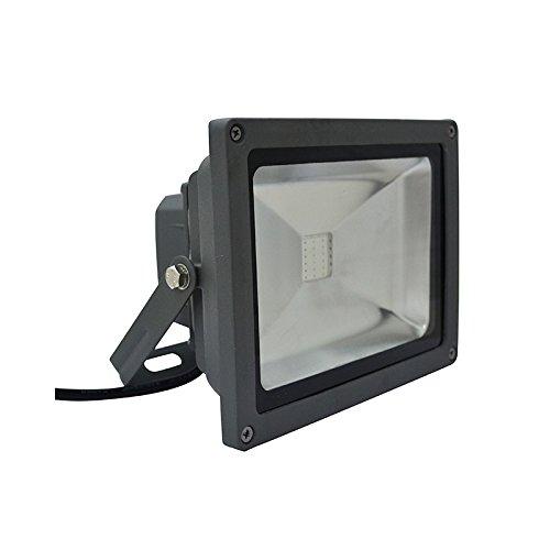Vision-EL 78044I Projecteur Extérieur LED Gris 20W RGB IR, Verre/Fer, 20 W, (H x L x P)-140 x 180 x 110 mm