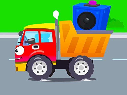赤いトラックとサブウーファー