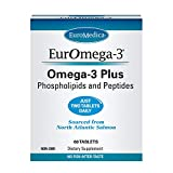 EuroMedica EurOmega-3-60 Tablets - Potent Omega-3 Fatty Acids + Phospholipids & Peptides - Superior Absorption - EPA & DPA from Exclusive Salmon Source - 30 Servings