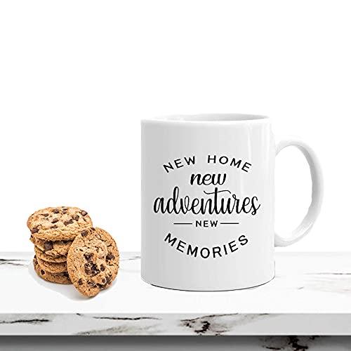 New Home Mug New Memories House Warming Mug Taza de cerámica para el hogar y la Oficina cumpleaños de...